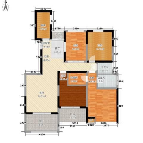 檀香园4室0厅2卫1厨151.00㎡户型图