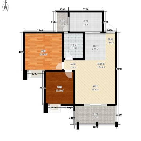 荣华北经城2室0厅1卫1厨94.00㎡户型图