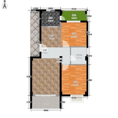 金色华庭2室0厅1卫1厨92.00㎡户型图