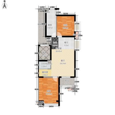 鹭港小区2室0厅1卫1厨100.00㎡户型图