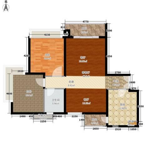 东山紫园2室1厅1卫1厨119.00㎡户型图