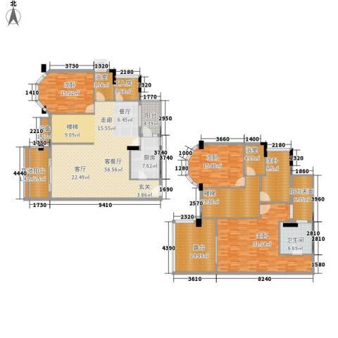 都市兰亭4室1厅1卫1厨224.00㎡户型图
