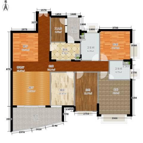 东山紫园3室1厅2卫1厨170.00㎡户型图