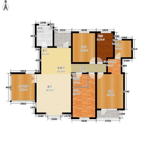 天嘉湖花园4室1厅1卫2厨206.00㎡户型图