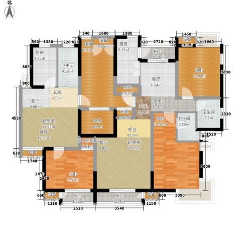 天房美域3室0厅3卫2厨130.89㎡户型图