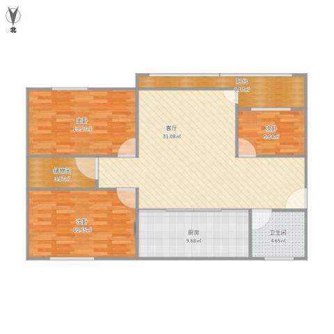 朝晖小区3室1厅1卫1厨119.00㎡户型图