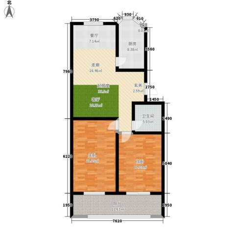 紫金山小区2室0厅1卫1厨114.00㎡户型图