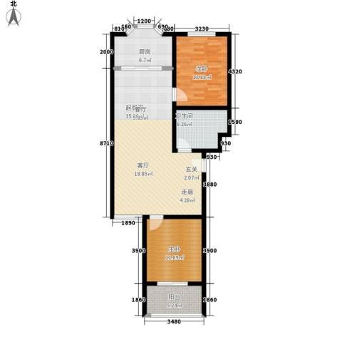 紫金山小区2室0厅1卫1厨88.00㎡户型图