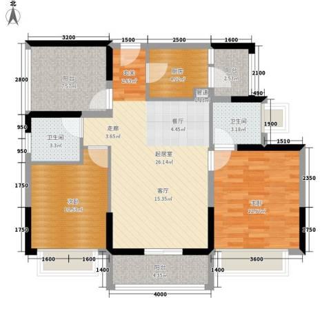 东江豪门别墅2室0厅2卫1厨108.00㎡户型图
