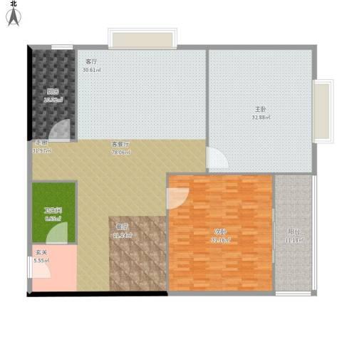 万华园琳苑小区2室1厅1卫1厨226.00㎡户型图