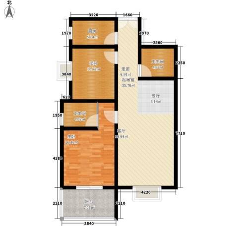 锦城四季2室0厅2卫1厨97.00㎡户型图