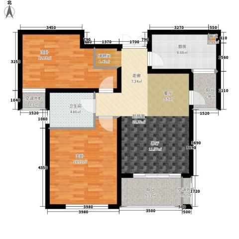 新港天都花园2室0厅1卫1厨85.00㎡户型图