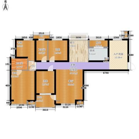 宏林名苑4室0厅2卫1厨158.00㎡户型图