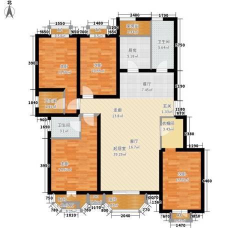 罗马世纪城4室0厅3卫1厨157.00㎡户型图