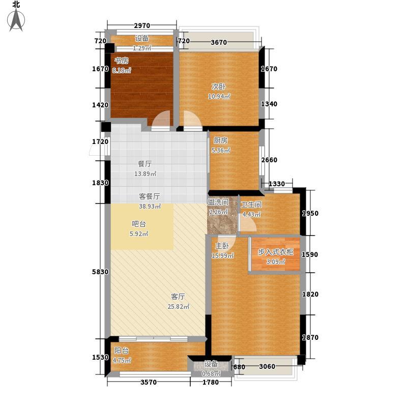 金科天籁城107.00㎡A4户型3室2厅