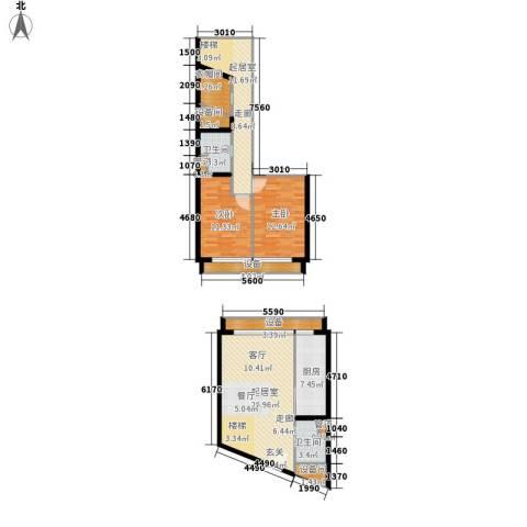 中弘北京像素2室0厅2卫1厨103.65㎡户型图
