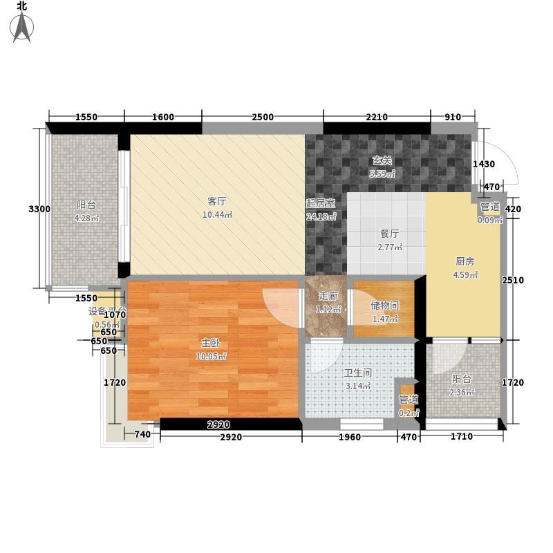 九龙1号61.00㎡C栋标准层06面积6100m户型