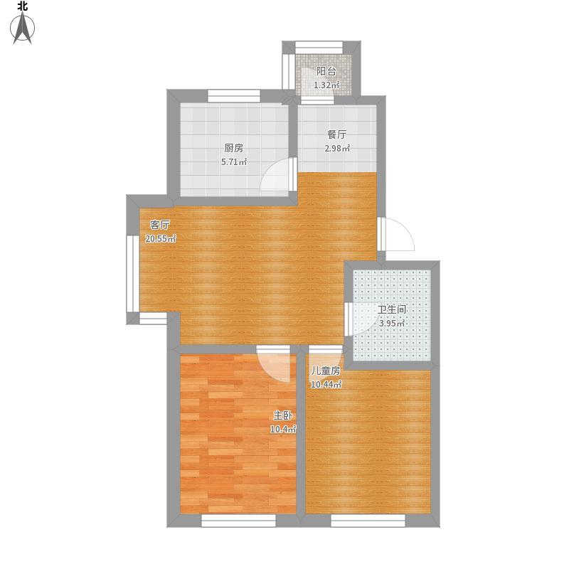 B户型73.58两室两厅