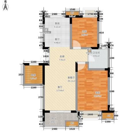 左邻右舍2室1厅1卫0厨92.00㎡户型图