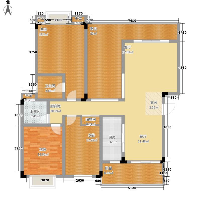 鲁能三亚湾143.53㎡golf公寓L户型3室3厅