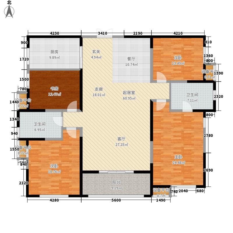 白桦林间183.00㎡25#楼Q7标准层户型4室2厅