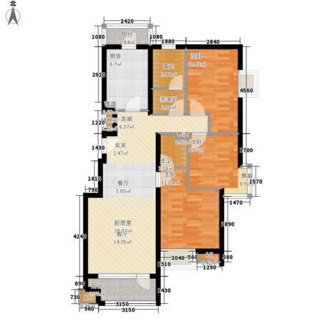 水岸星城3室0厅0卫1厨91.86㎡户型图