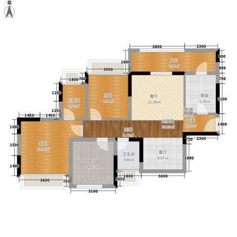 东江豪门别墅2室0厅2卫1厨114.00㎡户型图