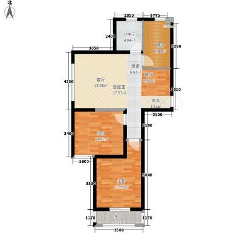 丽景荣城2室0厅1卫1厨93.00㎡户型图