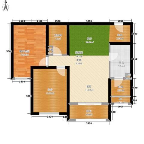 君熙太和1室0厅1卫1厨105.00㎡户型图