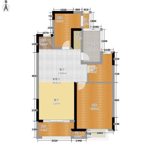 金科天籁城1室1厅1卫1厨79.00㎡户型图
