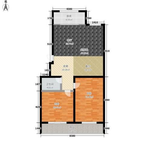 秀水花园2室0厅1卫1厨118.00㎡户型图