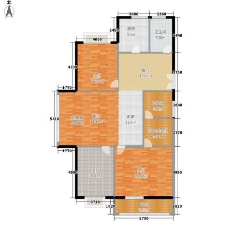 阳山花苑3室0厅2卫1厨220.00㎡户型图