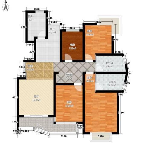 桃花坞小区4室1厅2卫1厨169.00㎡户型图