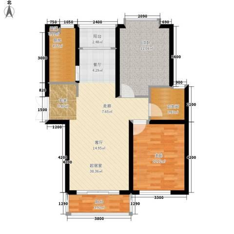 丽景荣城2室0厅1卫1厨96.00㎡户型图