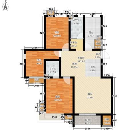 鼎旺国际社区3室1厅2卫1厨130.00㎡户型图