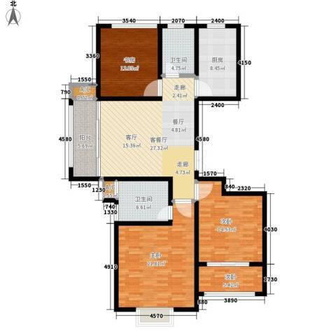 澄波湖壹号4室1厅2卫1厨126.00㎡户型图
