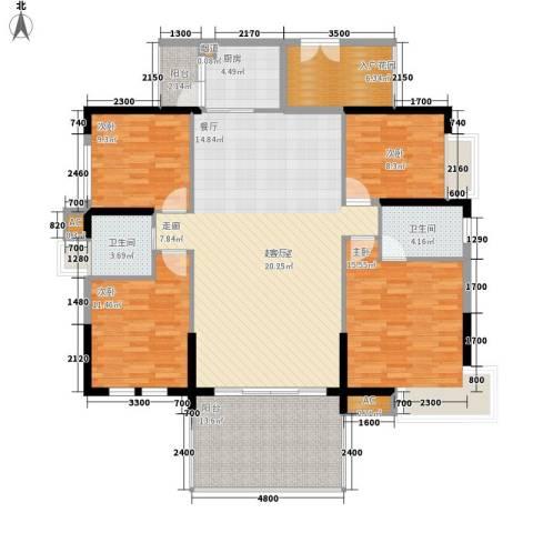 荣爵馆4室0厅2卫1厨135.00㎡户型图