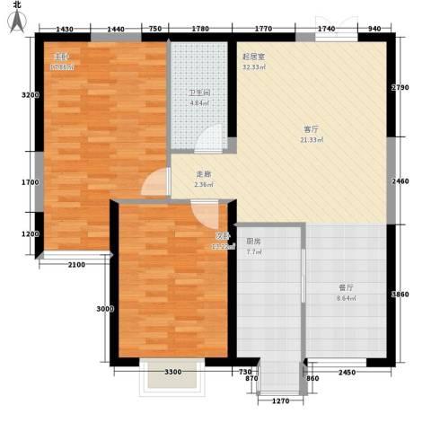 杨森家属院2室0厅1卫1厨106.00㎡户型图