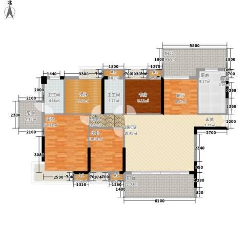荣爵馆4室0厅2卫1厨138.00㎡户型图