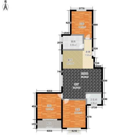 秀水花园3室0厅1卫1厨134.00㎡户型图