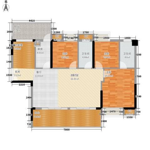 荣爵馆3室0厅2卫1厨112.65㎡户型图