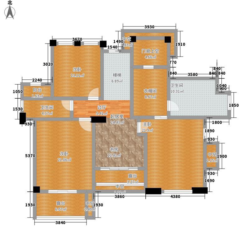 富力红树湾300.00㎡DA二层户型