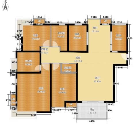 石板街9号小区3室0厅2卫1厨204.00㎡户型图