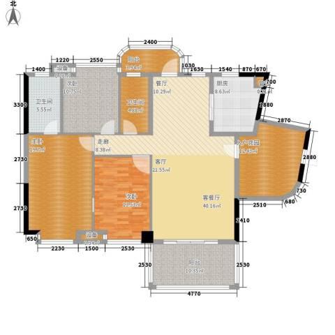 景源公园一号3室1厅2卫1厨151.00㎡户型图