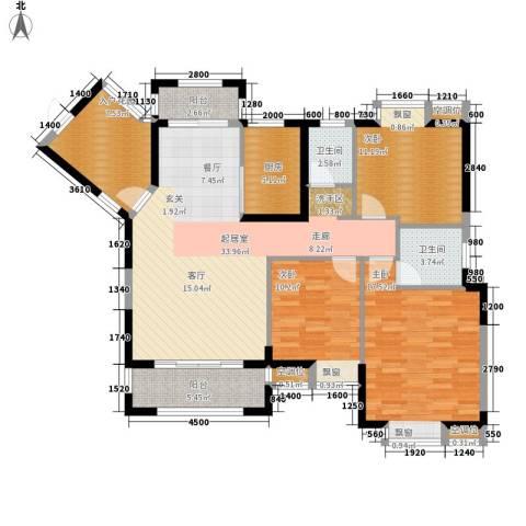 桂林奥林匹克花园3室0厅2卫1厨126.00㎡户型图