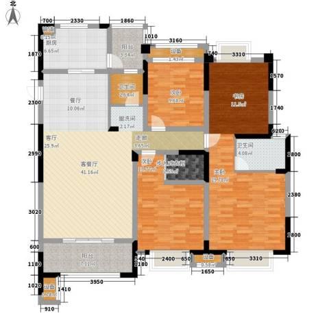 金科天籁城3室1厅2卫1厨123.70㎡户型图