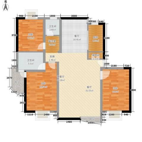 碧云山庄3室1厅2卫1厨126.00㎡户型图