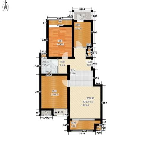水岸星城2室0厅1卫1厨83.56㎡户型图