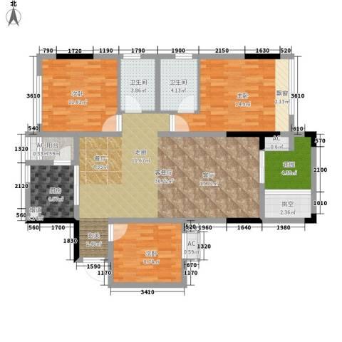 首信皇冠假日3室1厅2卫1厨102.00㎡户型图