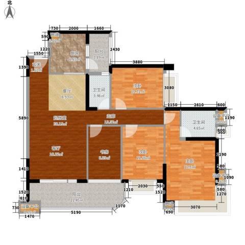 雅居乐海南清水湾4室0厅2卫1厨134.00㎡户型图
